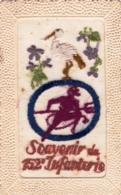 Carte Brodée - Militaria - Souvenir Du 152 Eme D Infanterie - Regimenten