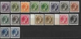 LUXEMBOURG 1926 - Grande Duchesse Charlotte  - YT 164 à 181 Sauf YT 168 ** MNH  Côte : 49 Eur - 1926-39 Charlotte De Profil à Droite