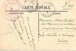 69-cachet Hôpital De Mornant N°43 Bis Sur CP En 1915-cachet Un Peu Faible Mais Très Rare - WW I