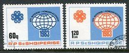 ALBANIA 1983 World Communications Year Used.  Michel 2184-85 - Albanie