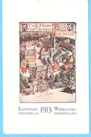 Gent (Gand)-Wereld Tentoonstelling-Exposition Universelle-1913-Oud Vlaendren - Vieille Flandre- Lithographie - Gent