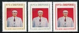 ALBANIA 1983 Hoxha 75th Birthday MNH / **.  Michel 2181-83 - Albania