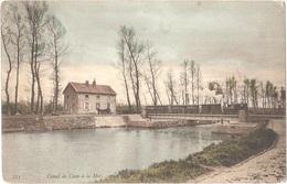 Dépt 14 - BÉNOUVILLE - Canal De Caen à La Mer - Le Pont De Bénouville - (colorisée) - ND Phot. N° 233 - (train, Tramway) - France