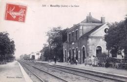 36 - Indre -  REUILLY  - La Gare - Francia