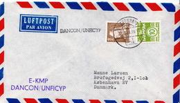 Postal History Cover: Denmark Cover With Dancon / Unficyp E-KMP Cancel - Militaria
