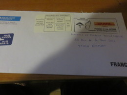 Enveloppe DHL Madagascar - Timbres