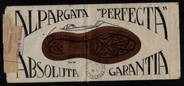 ESPAGNE - GUERRA CIVIL BURGOS A BAYONNE - ENVELOPE ILLUSTRÉ - VIGNETTE CRUZADA CONTRA EL FRIO - ALPARGATA LITHO - 1931-50 Cartas