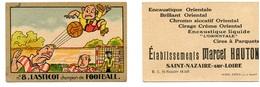 Carte De Visite : Etablissements Marcel HAUTON à St Nazaire Sur Loire / Carte N° 8 Lasticot, Champion De Football - Visitenkarten