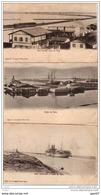 3 Cpa  (   Egypte  )     Le Canal De SUEZ   à L'époque - Suez