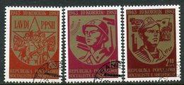 ALBANIA 1983 People's Army Ammiversary Used.  Michel 2170-72 - Albanien