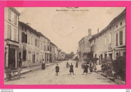 CPA (Ref: Z 1274) SAVERDUN (09 ARIÈGE) (09 ARIÈGE)  Rue Du Lion D'Or (animée) - Other Municipalities