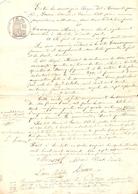 Vieux Papier Du Béarn, Sendets, 1877, La Veuve Prat Achète Une Terre Quartier Du Boscq Aux Peyré-Mousset Et Lanne - Historische Documenten