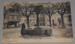 56 - Gourin - La Vieille Maison Et La Fontaine :: Tampon Hôpital Au Dos ::: Animation -------------- 515 - Gourin