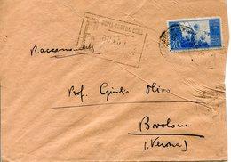 Italia (1948) - Busta Raccomandata Da Roma - 6. 1946-.. Repubblica