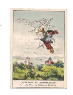 CHROMO   AVIATION Et  AEROSTATION - LES REVES DE CYRANO DE BERGERAC -  LASSEUR LE MANS - - Andere