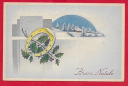 CARTOLINA VG ITALIA - BUON NATALE - Pungitopo E Ferro Di Cavallo - CECAMI 4334 - 9 X 14 - 1951 UDINE - Natale