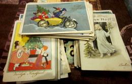 Beau Petit Lot De + De 150 CPSM JOYEUX NOEL / VROOLIJK KERSTFEEST écrites Ou Non - à Voir - 10 Scans - Santa Claus