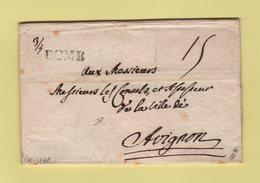 Rome - 1778 - Destination Consuls De La Ville D'Avignon - Sans Correspondance - Italie