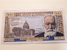 500 Fr Victor Hugo Du 7/1/1954 TB - 1871-1952 Anciens Francs Circulés Au XXème
