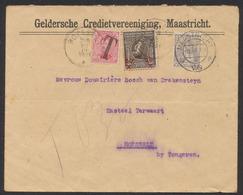 Yv 53 Perforé Sur Lettre Expédié De Maastricht (1921) Vers Hoeselt + Taxe Par TX18 Et N°186 (J.O.) / Pas Courant, TB ! - Tasse