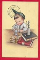 CARTOLINA VG ITALIA - BAMBINI - Il Piccolo Chimico - MARIAPIA - 9 X 14 - 1948 - Illustratori & Fotografie