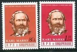 ALBANIA 1983 Marx Death Centenary MNH / **.  Michel 2156-57 - Albania