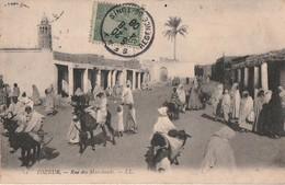 TOZEUR. - Rue Des Marchands. Carte Pas Courante - Tunisie