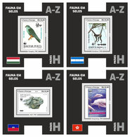 S. TOME & PRINCIPE 2019 - WWF Fauna On Stamps H, 4 S/S. Official Issue. - Unused Stamps