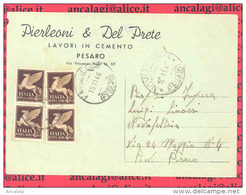 St.Post.041 - REPUBBLICA 1946 - Cartolina Privata Da Pesaro A Novafeltria 15.11.46 - 1946-60: Storia Postale