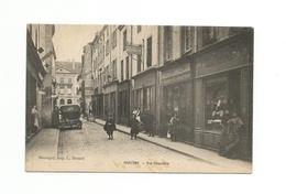 MARCIGNY (cpa 71) Rue Chevalière, Succursale Casino N°207et Boutique Louis CHENAUD - France