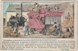 CPA MOISSONNEUSE BATTEUSE  CETTE BATTEUSE APPARTIENT AU SYNDICAT - Tracteurs