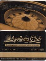 F.Y.R.O.M. - Apollonia Casino, Gold Member Card, Sample - Casino Cards