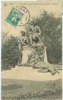 Liège 1912; Monument Commémoratif De L'Indépendance Nationale - Voyagé.  (Nels - Bruxelles) - Liege