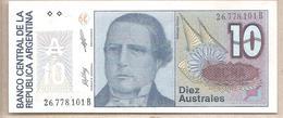 Argentina - Banconota Non Circolata FdS Da 10 Australes - P-325b - 1987 #18 - Argentina