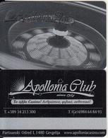 F.Y.R.O.M. - Apollonia Casino, Silver Member Card, Sample - Casino Cards