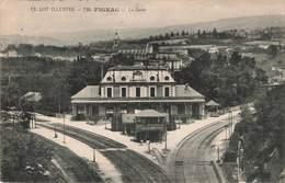 46 Figeac La Gare Cachet 1923 - Figeac