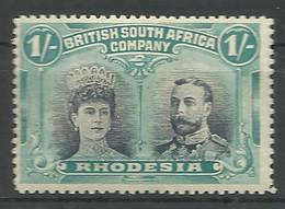 (990646) Rhodesien, BSAC 1910, Double Heads  1/-s  Mint - Altri