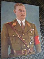 Altes Color-Foto 2 WK Gauleiter In Uniform - 1939-45
