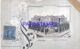 126780 CHILE SANTIAGO PALACIO DEL CONGRESO CIRCULATED TO PARAGUAY POSTAL POSTCARD - Chile