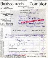 71- MACON- FACTURE J. COMBIER-FABRIQUE CARTES POSTALES- CARTE POSTALE BROMURE- 4 RUE AGUT- 1945 - Old Professions