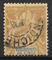 INDE FRANCAISE : GROUPE 30c BRUN N° 9 CACHET PONDICHERY COTE 56 € - Inde (1892-1954)