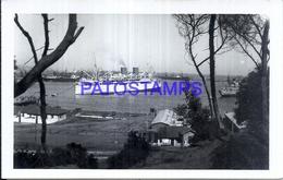 126783 CHILE PUERTO SAN ANTONIO VISTA PARCIAL SHIP PHOTO NO POSTAL POSTCARD - Chile