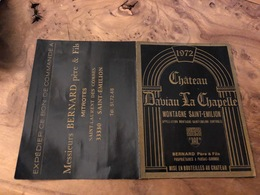 321 / BON DE COMMANDE CHATEAU DAVIAU LA CHAPELLE MESSIEURS BERNARD PERE ET FILS - Otros