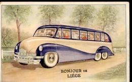 België - Liége - Luik - Autobus - Leporello Complete - 1950 - Liege