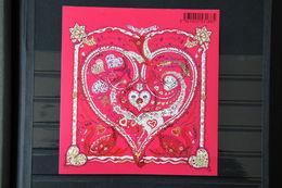 """France 2013 - F4717** - Feuillet St Valentin """" De Tout Coeur """" - Coeur D'Hermès - Mint/Hinged"""