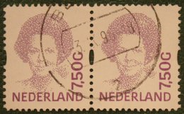 Paar Koningin Beatrix 7,50 Gld NVPH 1581 (Mi 1530) 1993 1994 Gestempeld / USED NEDERLAND / NIEDERLANDE - 1980-... (Beatrix)