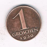 1 GROSCHEN 1930 OOSTENRIJK /9420/ - Oostenrijk