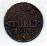 GERMAN STATES - BERG, 1/2 Stuber, Copper, 1805, KM #6 - Monedas Pequeñas & Otras Subdivisiones