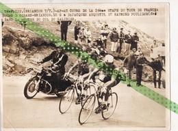 Origineel Telephoto Tour De France, Bourg D'Oisans-Briancon, Jacques Anquetil Et Raymond Poulidor - Cyclisme