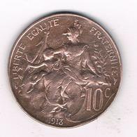10 CENTIMES 1913 FRANKRIJK /9424/ - Frankrijk